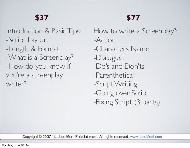 how to write a cinema story