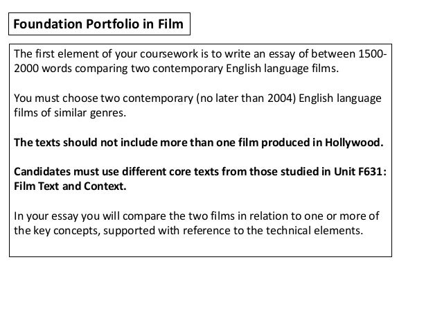 introduction to film studies 6 foundation portfolio in film