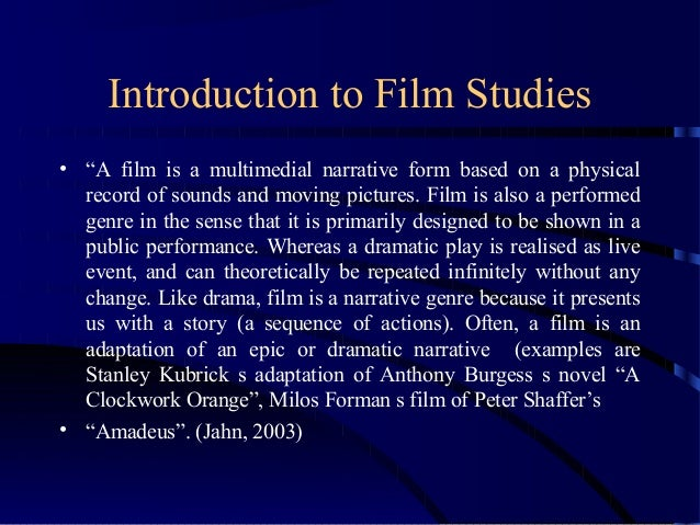 introduction to film studies pdf