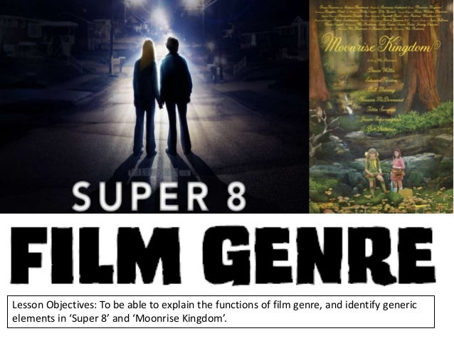 Lesson Objectives: To be able to explain the functions of film genre, and identify generic elements in 'Super 8' and 'Moon...