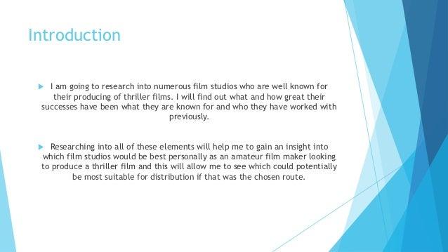 Film studio research Slide 2
