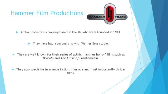 Film studio research Slide 3