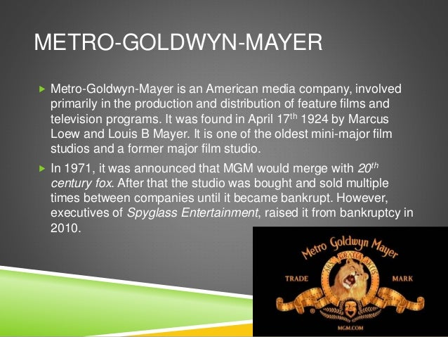 WHY IS COLUMBIA AND METRO- GOLDWYN-MAYER INSTITUTIONS GOOD FOR OUR MEDIA PRODUCT?  I think Columbia is suitable for our m...
