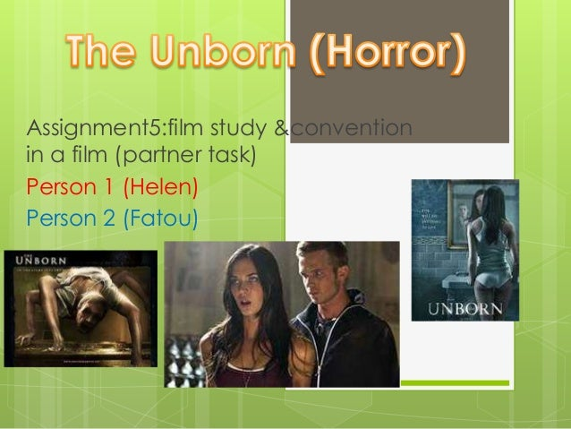 Assignment5:film study &conventionin a film (partner task)Person 1 (Helen)Person 2 (Fatou)