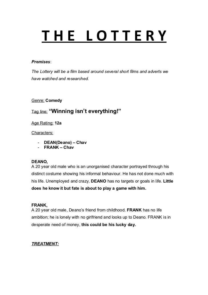 film treatment template film treatment draft 3