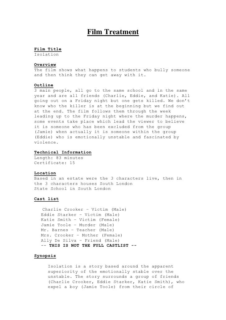 Film treatment v2 2 for Film treatment template