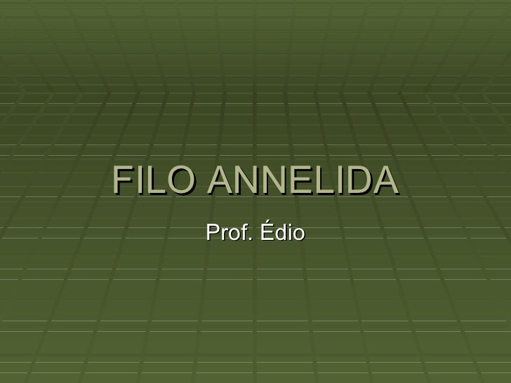 FILO ANNELIDA Prof. Édio