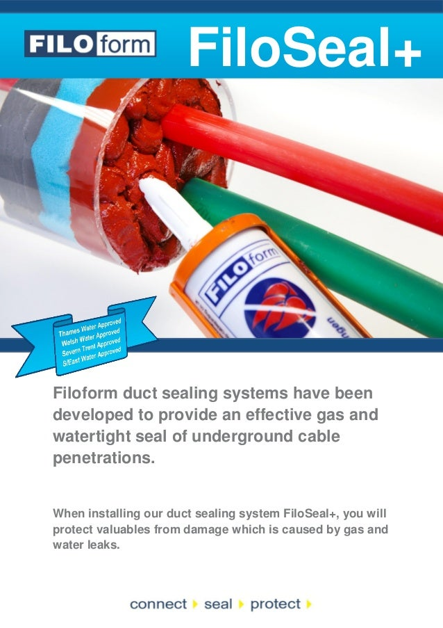 FiloSeal+  Filoform duct sealing systems have been developed to provide an effective gas and watertight seal of undergroun...