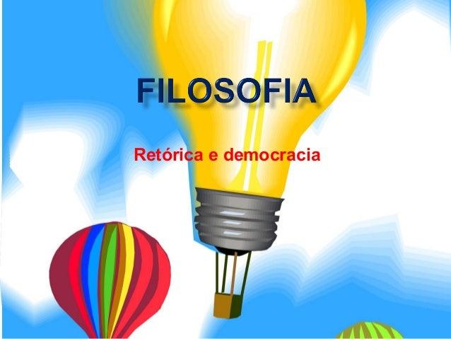Retórica e democracia