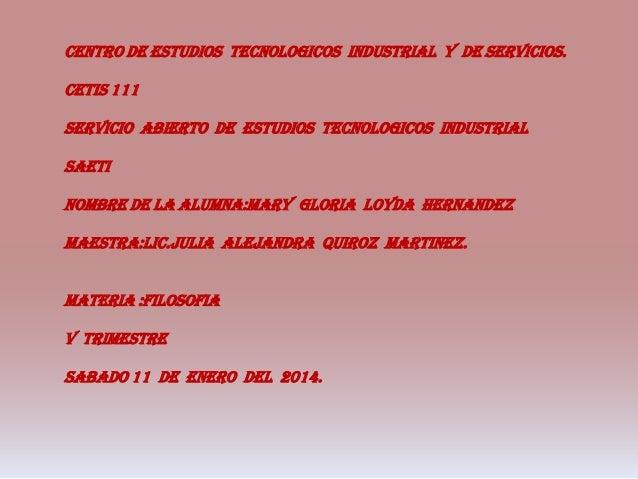CENTRO DE ESTUDIOS TECNOLOGICOS INDUSTRIAL Y DE SERVICIOS. CETIS 111 SERVICIO ABIERTO DE ESTUDIOS TECNOLOGICOS INDUSTRIAL ...
