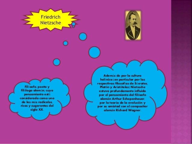 Friedrich Nietzsche Filósofo, poeta y filólogo alemán, cuyo pensamiento está considerado como uno de los más radicales, ri...