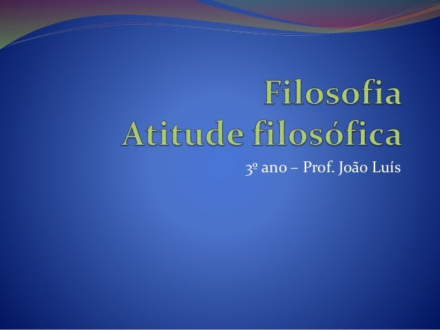 3º ano – Prof. João Luís