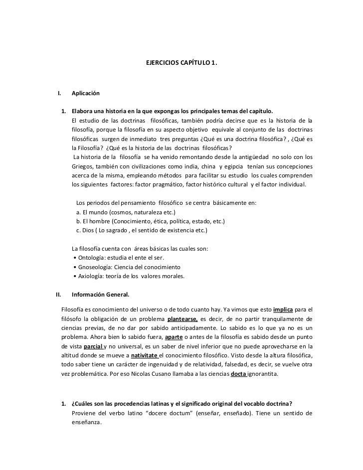 EJERCICIOS CAPÍTULO 1.I.    Aplicación  1. Elabora una historia en la que expongas los principales temas del capítulo.    ...