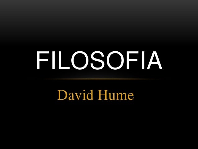 David Hume FILOSOFIA