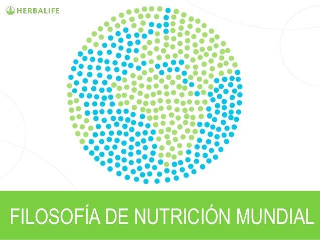 FILOSOFÍA DE NUTRICIÓN MUNDIAL