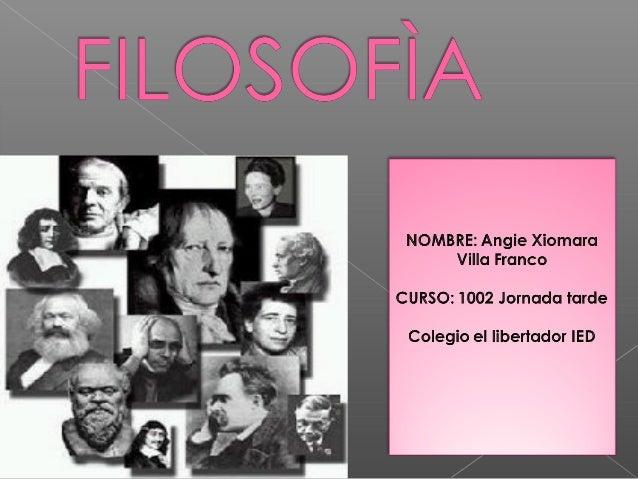 INTRODUCCION A LA FILOSOFÌA FILO-SOFÌA Amor Sabiduría La filosofía es un saber con un fuerte contenido teórico que afecta ...