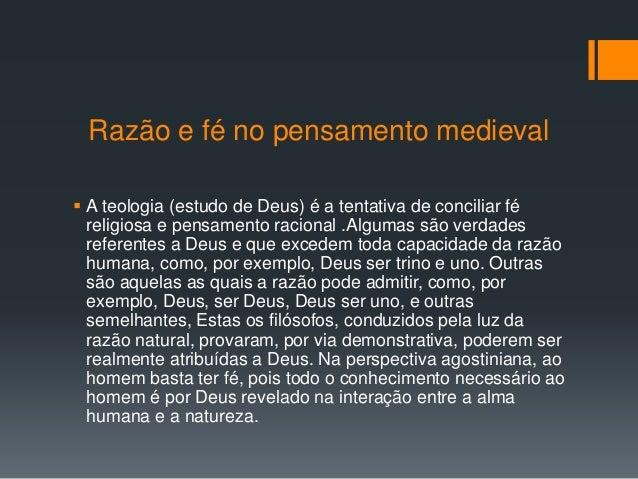 7. Razão e fé no pensamento medieval ... 7726faf78af1a