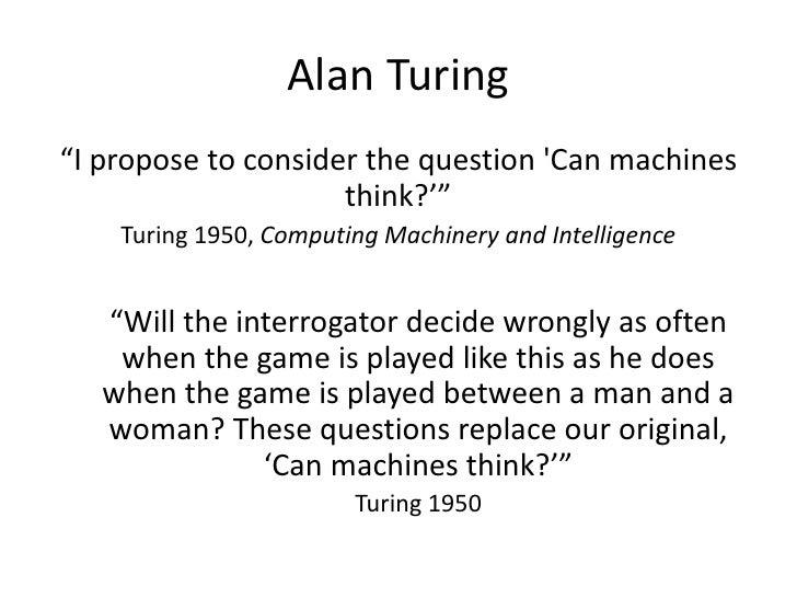 Alan turing intelligent machinery essay