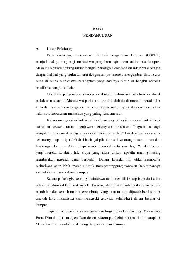 tugas essay ospek