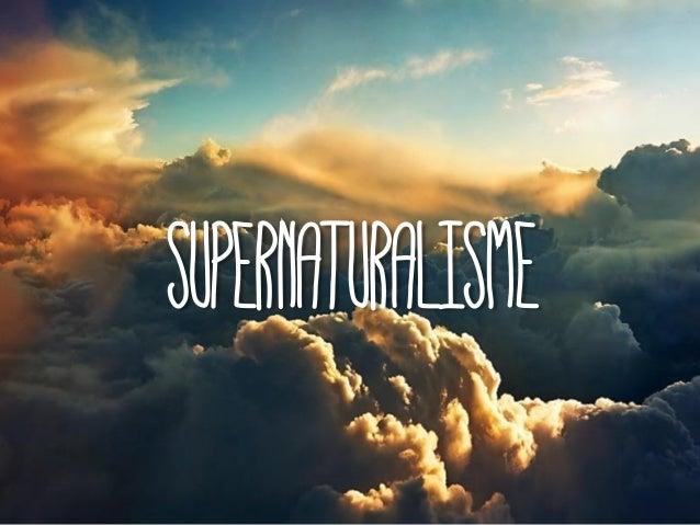 SUPERNATURALISME