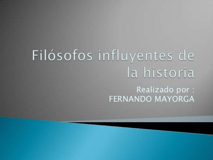 Realizado por :FERNANDO MAYORGA
