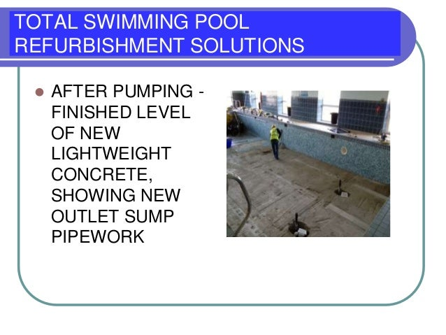 Total Swimming Pool Refurbishment Pool Depth Private Le