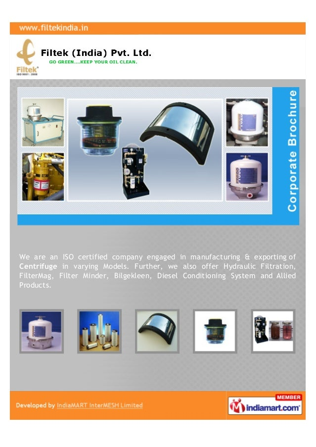 We are an ISO certified company engaged in manufacturing & exporting ofCentrifuge in varying Models. Further, we also offe...