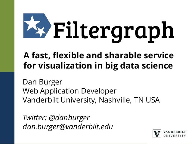 A fast, flexible and sharable service for visualization in big data science Dan Burger Web Application Developer Vanderbil...