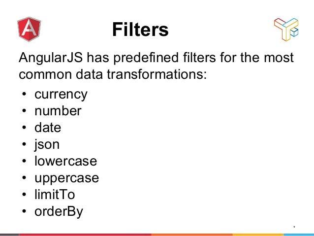 AngularJS filters