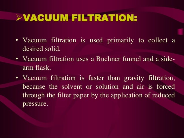 Filtration And Clarification