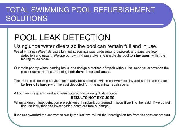 Total Swimming Pool Leak Detection