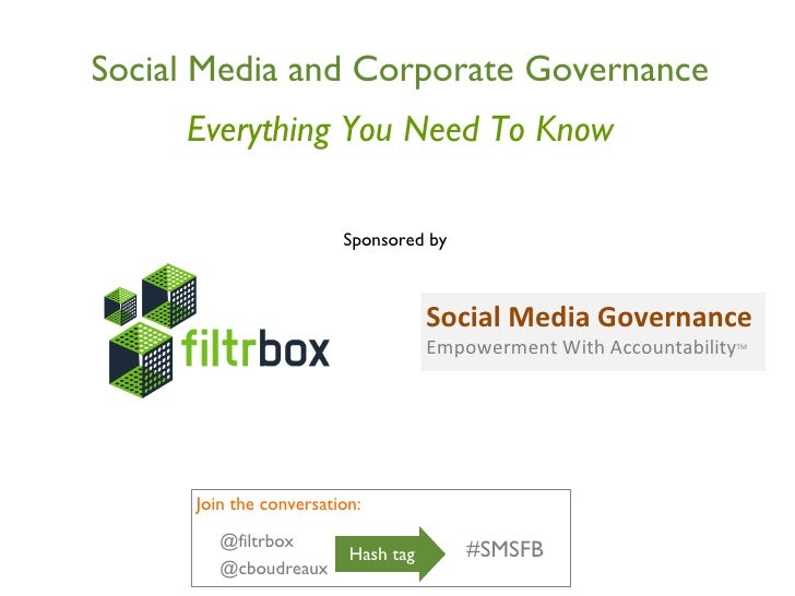 Social Media and Corporate Governance Everything You Need To Know Sponsored by  Social Media Governance Empowerment With A...