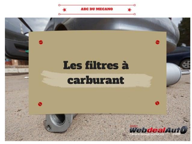 Les filtres à carburant