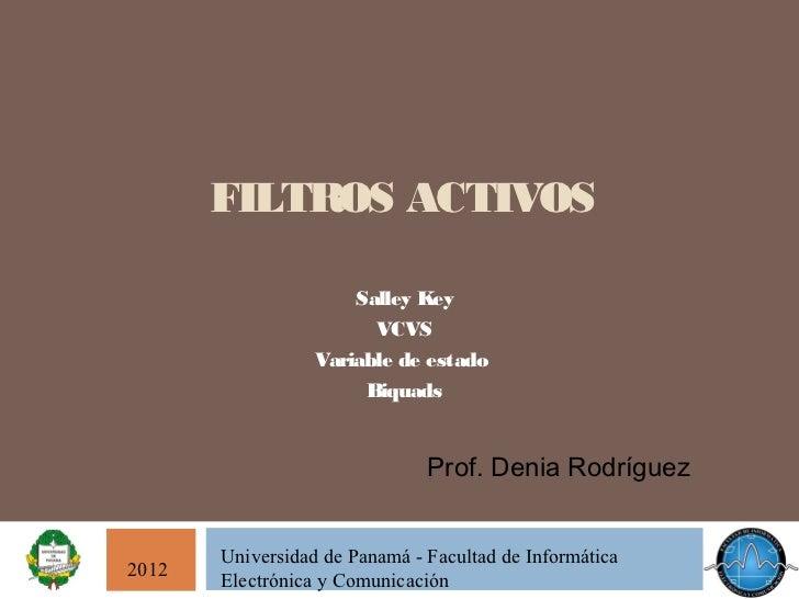 FILTROS ACTIVOS                      Salley Key                        VCVS                  Variable de estado           ...