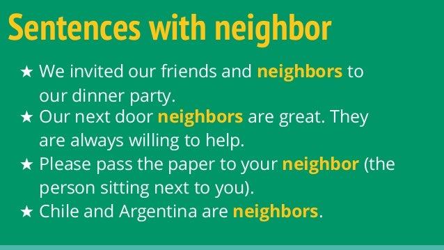 Help my essay neighbours