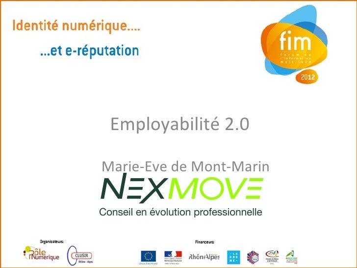 Employabilité 2.0Marie-Eve de Mont-Marin
