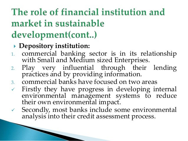 financial institutions and economic development