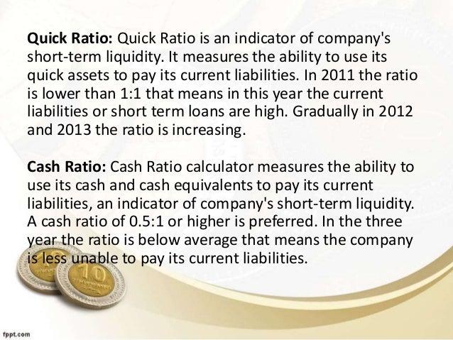 Ratio Analysis of Bata shoe company