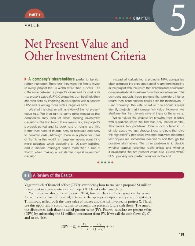 net present value and other investment (1) part 1 explains the concepts of net present value (2) part 2 shows how to calculate npv on texas instruments ba ii plus professional.