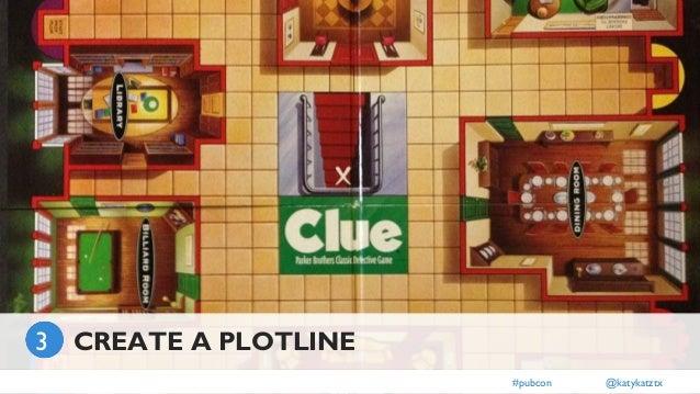 ] #pubcon @katykatztx CREATE A PLOTLINE3