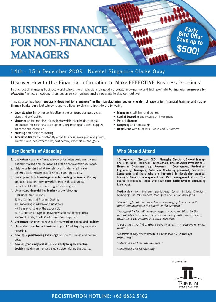 Business Finance For Non-Financial Managers