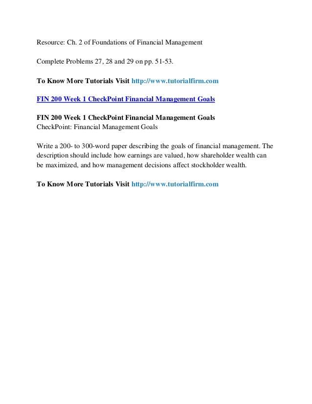 fin200 week1 cash flow Comm 200 1 persuasive essay comm/215 prof manuel hernández january 8, 2013 2.