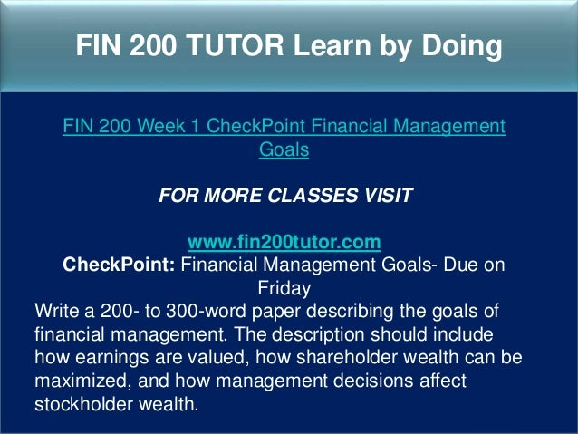 fin 200 week 1 assignment Assignment: cash flow preparation- due on sunday complete problems 27, 28, & 29 on pp 51-53 of foundations of financial management.