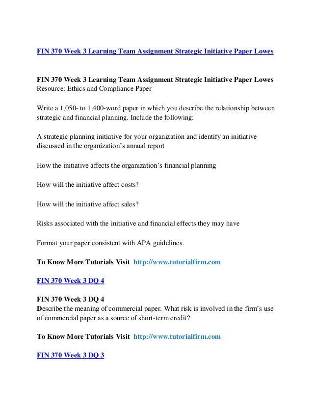 Strategic Initiative Paper (Harley Davidson) – FIN 370 Week 3