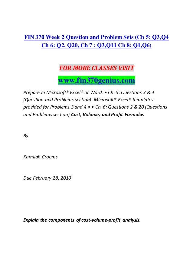 Fin 370 genius perfect education fin370genius com