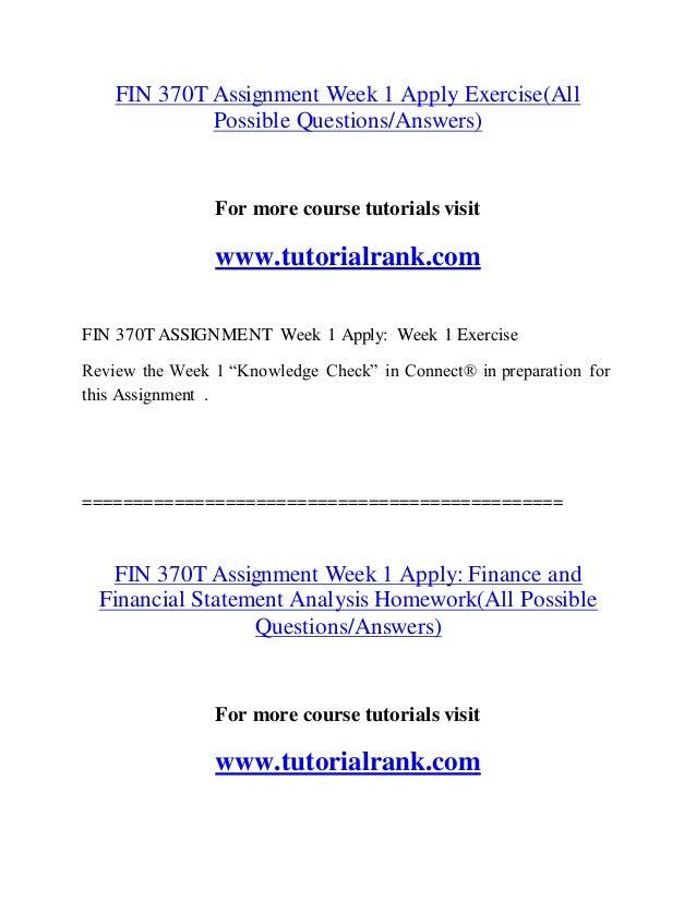 FIN 370T Effective Communication/tutorialrank com
