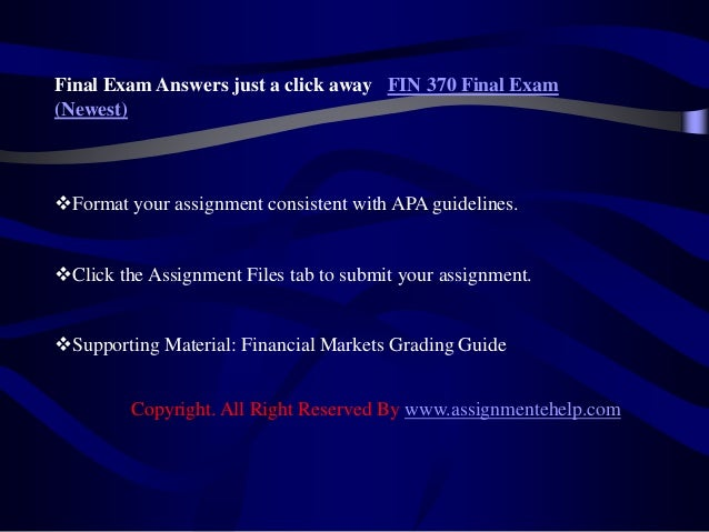 fin 370 week 3 tvm assignment Get help for strayer-university fin 370 week 2 assignment 2we provide assignment, homework, discussions and case studies help for all subjects strayer-university for session 2016-2017.