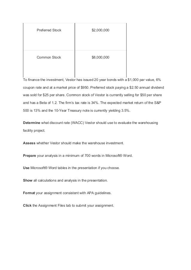 group assignment cost of capital Get the finest cost of capital homework answers by contacting with myhomeworkhelpcom.