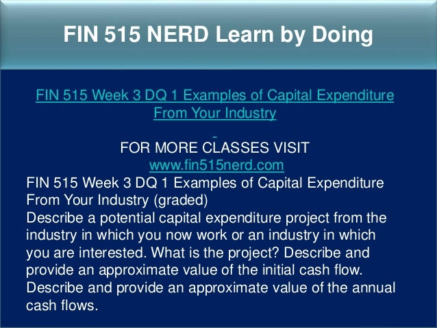 fin515 week 3 first course project Fin 515 week 3 first course project the purpose of this project is to help you develop skills not only in performing the calculations behind financial analysis but interpreting the numbers as well.