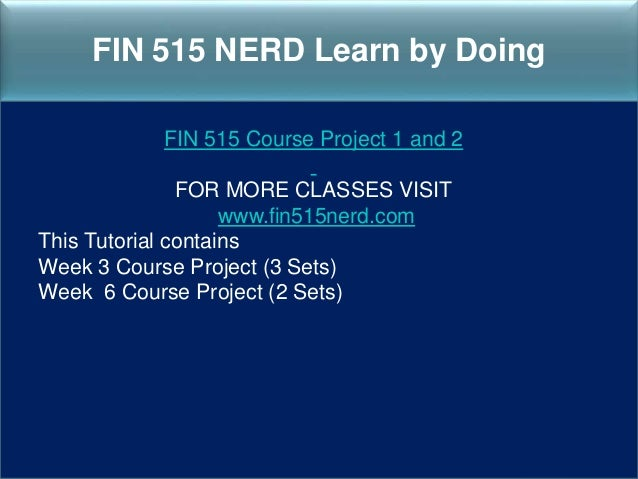 FIN 515 Managerial Finance – DeVry (Entire Course Week 1 – 8)